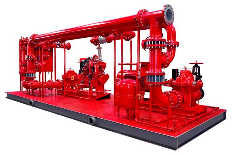 消防泵成撬模块的特点